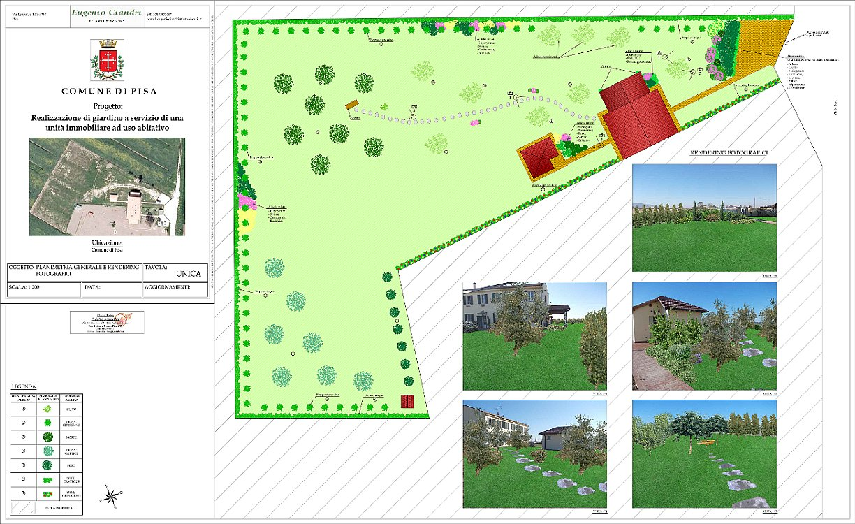 Beautiful integrata da quella fotografica with progetto per giardino - Progetti giardino per villette ...